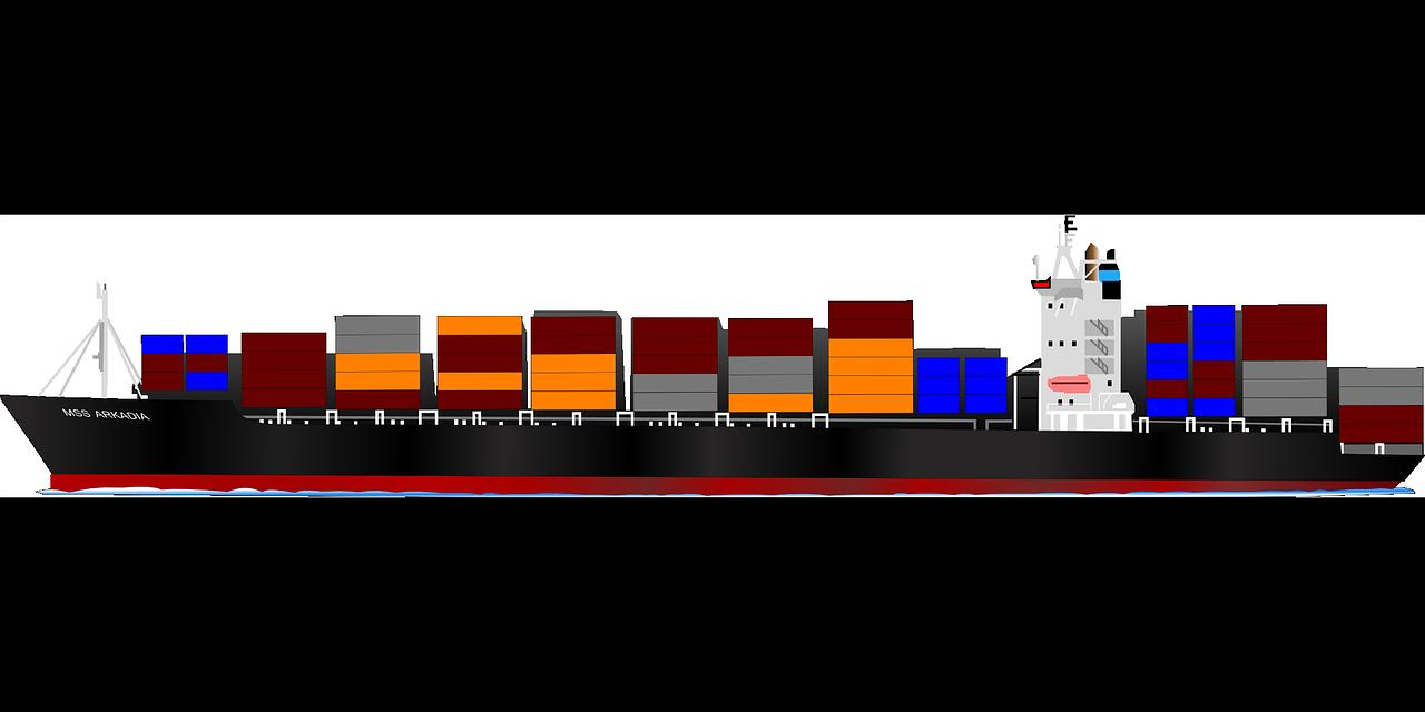 Spedizione di merci via mare e via aerea