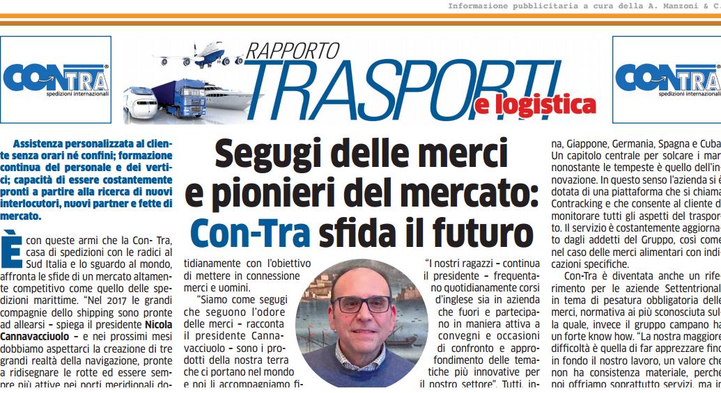 Rassegna Stampa – Repubblica – Segugi delle merci e pionieri del mercato: Con-Tra sfida il futuro