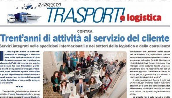Rassegna Stampa – Repubblica – Trent'anni di attività al servizio del cliente