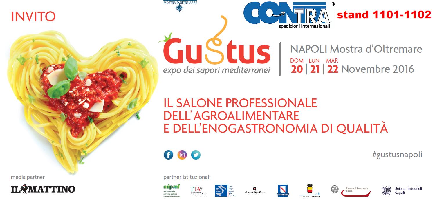 """La Contra sarà  espositore al """"Gustus"""" di Napoli – (20/21/22 Novembre 2016)"""