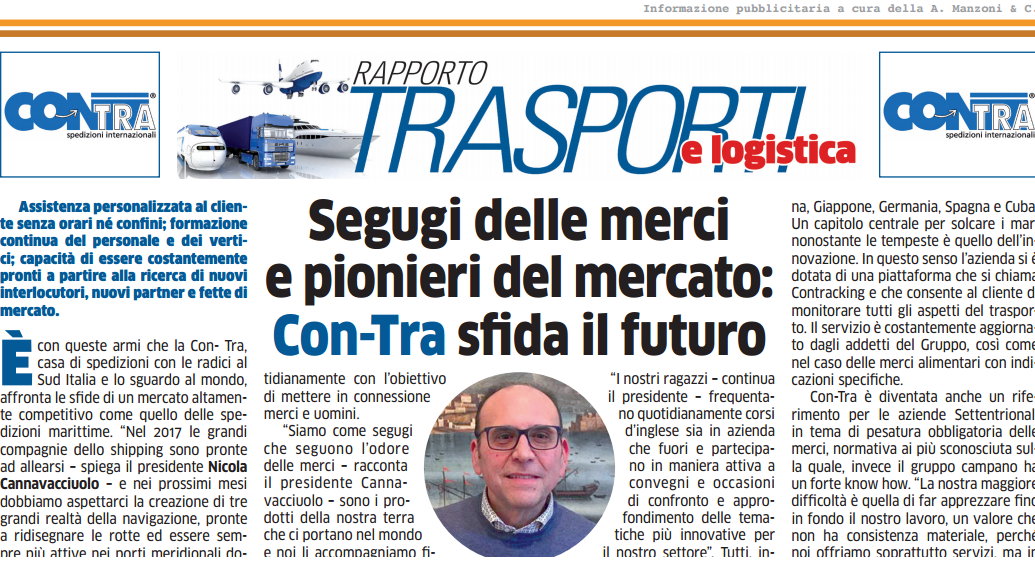 Press Review – Repubblica – Freight hunting and innovators: Con-Tra's  challenge for the future