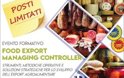 Food Export Managing Controller – BOLOGNA, 19-20-21 NOVEMBRE 2018